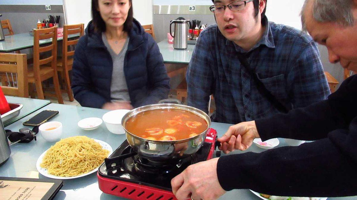 赤崎・内田両名とベトナム鍋~クリーニング業界懇話会(笑)